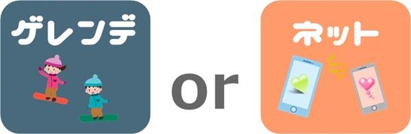 ネットナンパとゲレンデナンパの比較